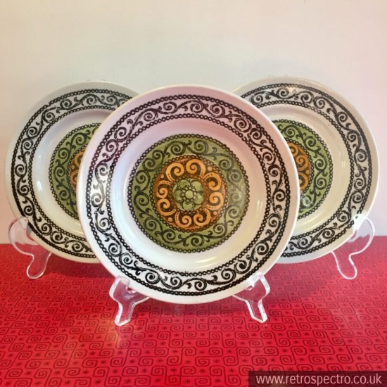 Broadhurst Kathie Winkle Agincourt pattern Side Plates