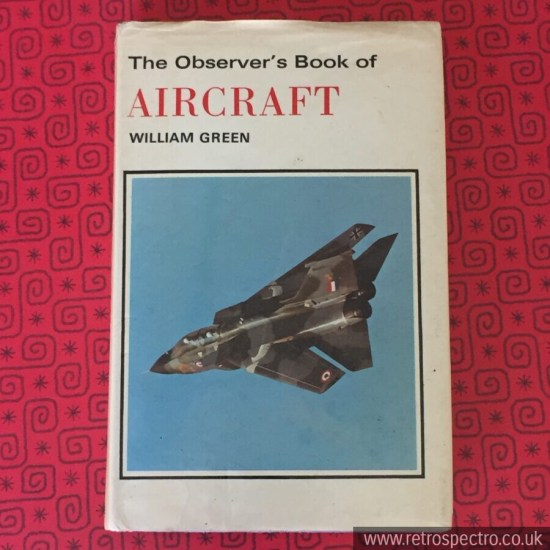 Observer's Book Of Aircraft - Blue hardback with dust jacket 1976 edition