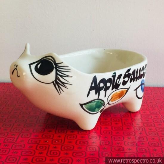 Geoffrey Maund Apple Sauce Cute Face Open Sauce Boat Pig