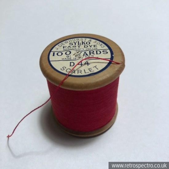 Sylko Cotton Reel D.44 Scarlet