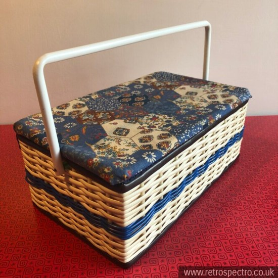 Vintage sewing basket storage box