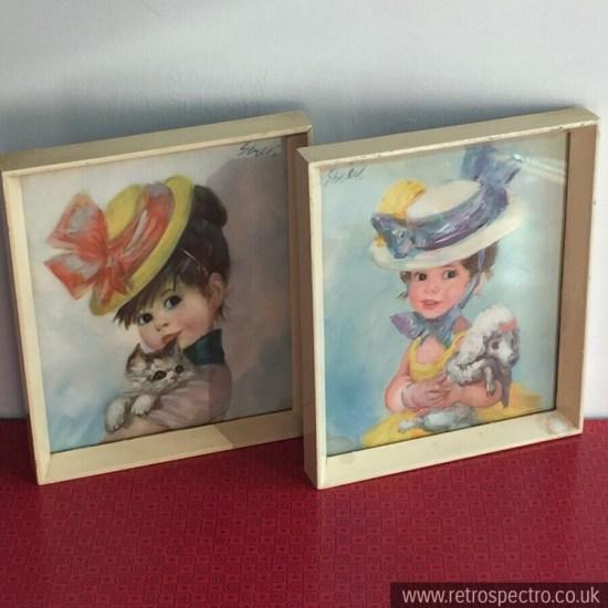"Strev Framed Prints ""Harriett"" and ""Arabella"""