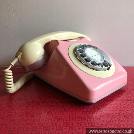 Vintage 1970s Retro BT 746 Dial Telephone