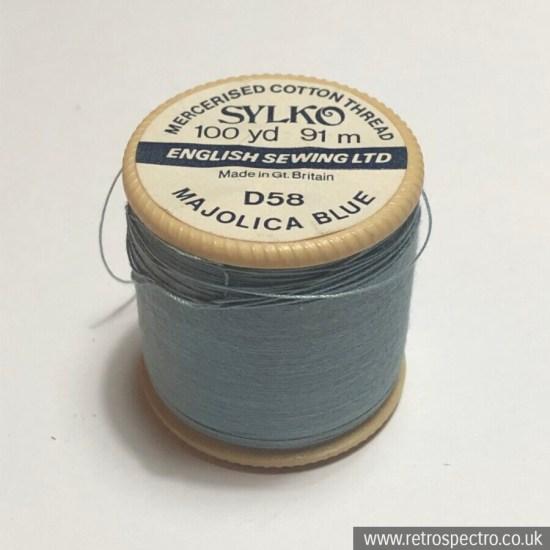 Sylko Cotton Reel Majolica Blue D58.