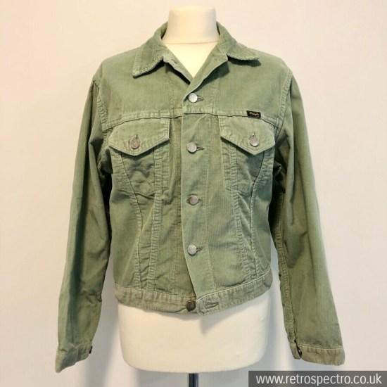 Wrangler Blue Bell Courdroy Jacket Light Green