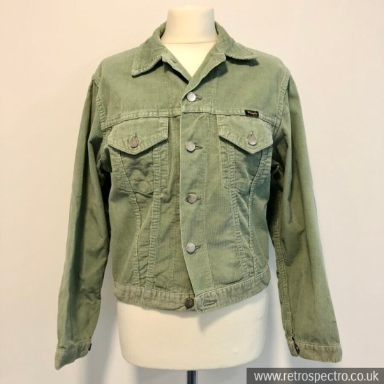 Wrangler Blue Bell Courdroy Jacket Light Green