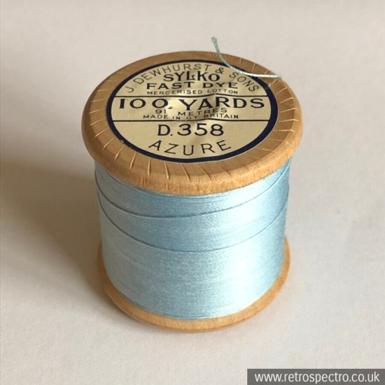 Sylko Cotton Reel - D.358 Azure