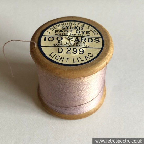 Sylko Cotton Reel - Light Lilac D.299