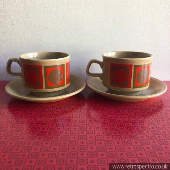 Vintage Staffordshire Cups & Saucers