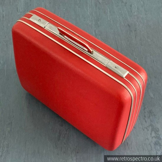 Vintage Suitcase Concorde Red Hard Shell