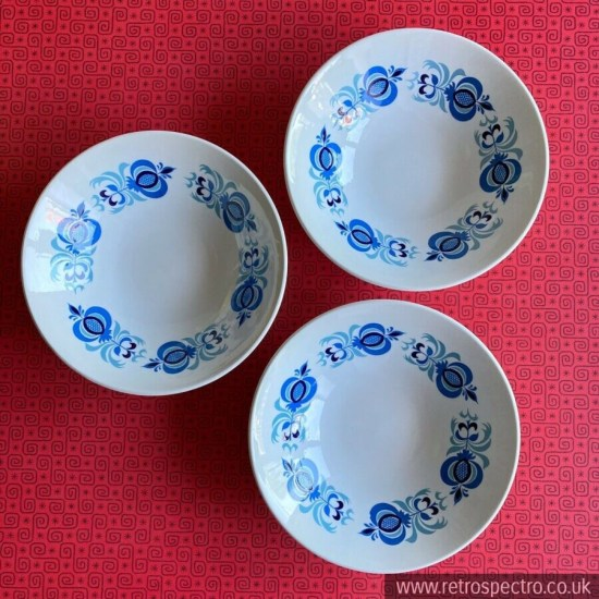 Poole Pottery Morrocco Pattern Cereal/Fruit Bowls Vintage 70s