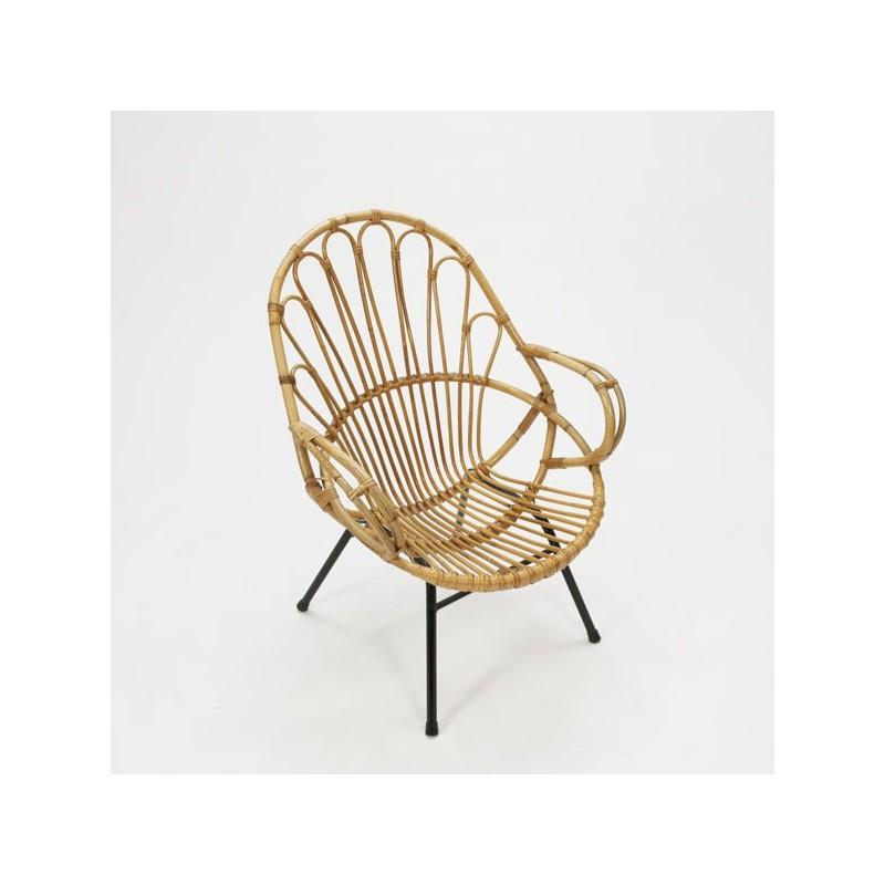 Rotan zitstoel  Retro Studio