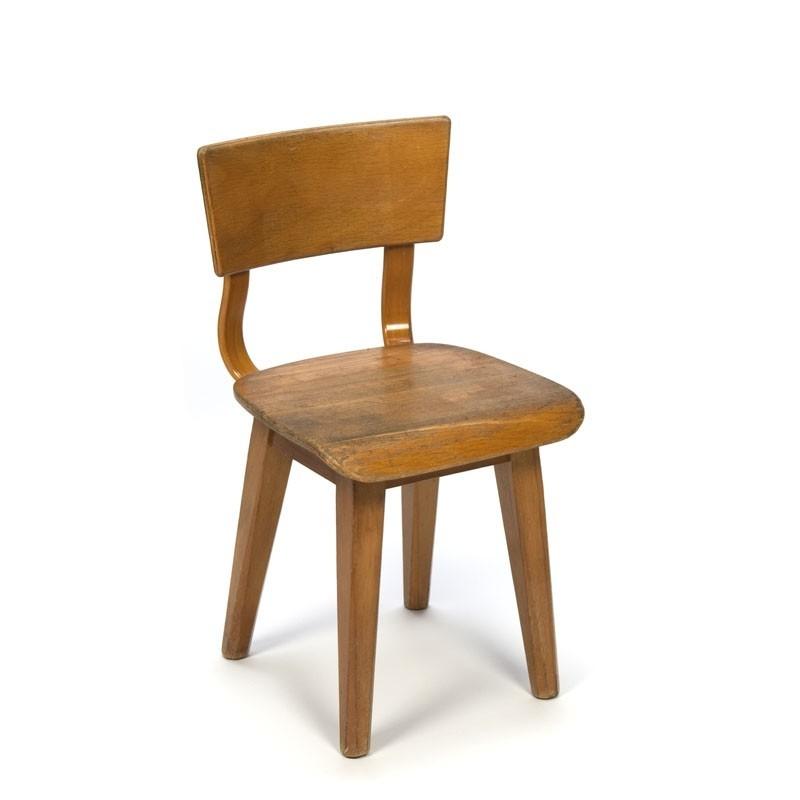 Small model vintage wooden school chair  Retro Studio