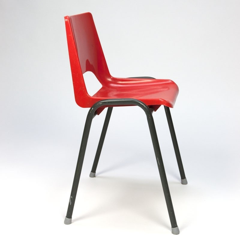 Vintage seventies plastic school chair  Retro Studio