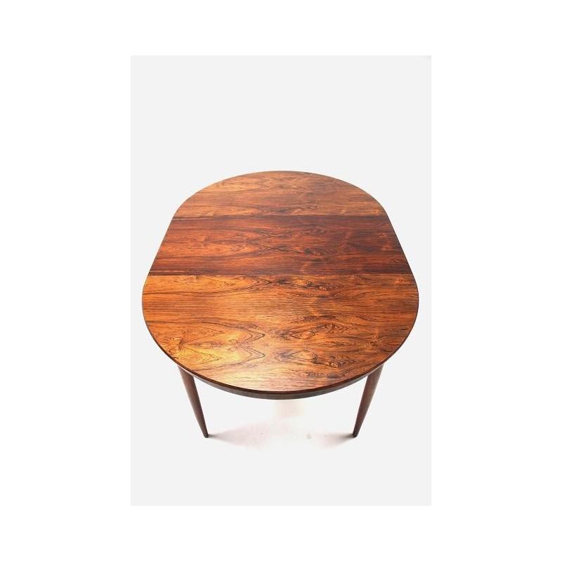 Palissander ronde houten eettafel Retro Studio
