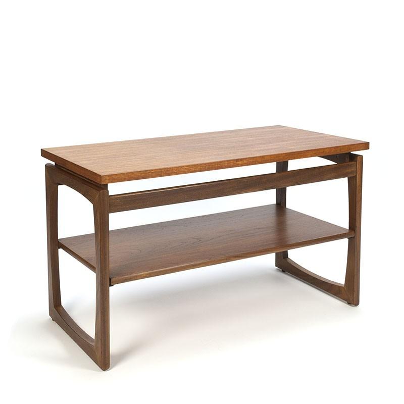 vintage tv furniture or side table in teak retro studio