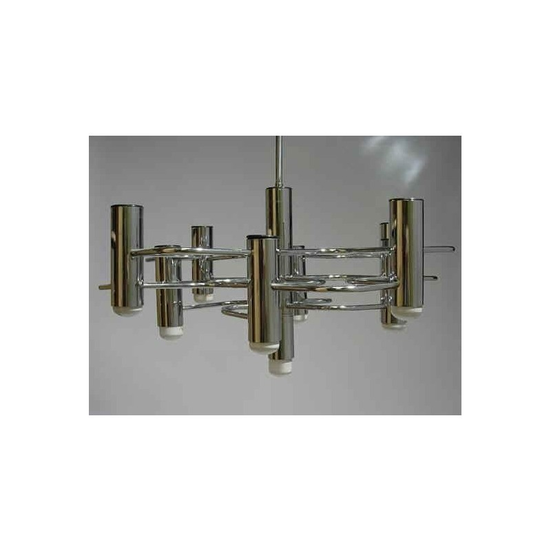 Chromen vintage design hanglamp 6  Retro Studio