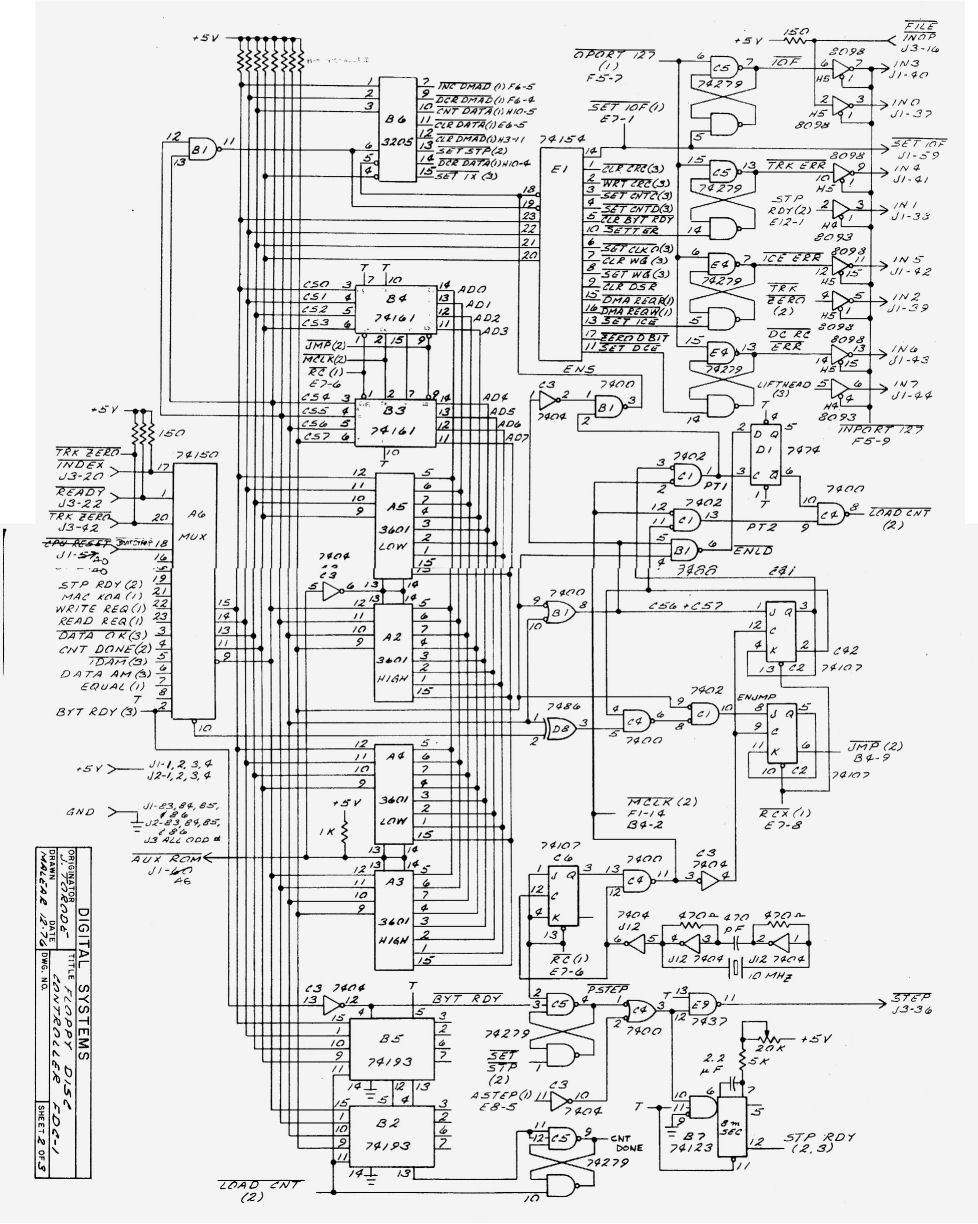 medium resolution of the schematic for the digital systems fdc 1 of december 1976 is shown here