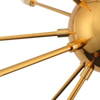 Sputnik-style Quasar Gold Chandelier at Dot and Bo - Retro ...