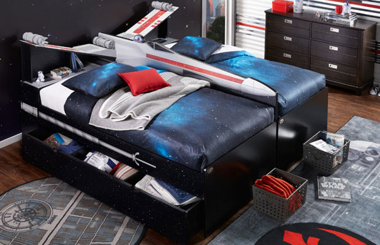 ikea junior desk chair hang around star wars bedroom furniture at rooms to go