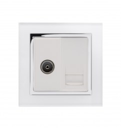 crystal ct tv bt slave socket white [ 1000 x 1000 Pixel ]