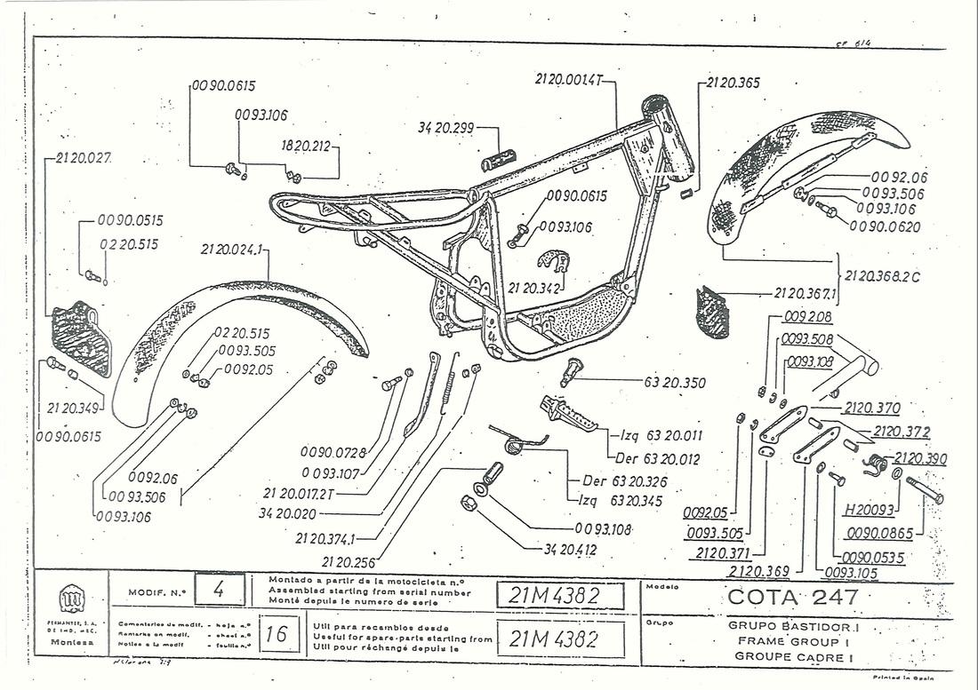 engine schematic for montesa cappra