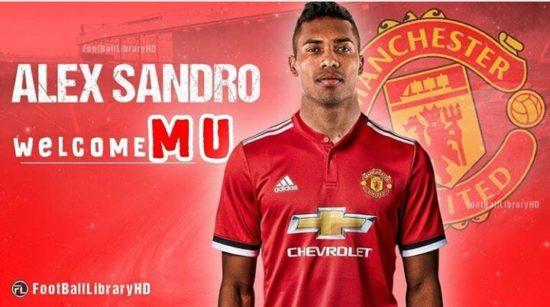Photoshopped image of Alex-Sandro in Man United shirt