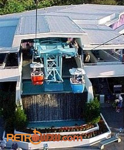 View of the Tomorrowland Skyway Station
