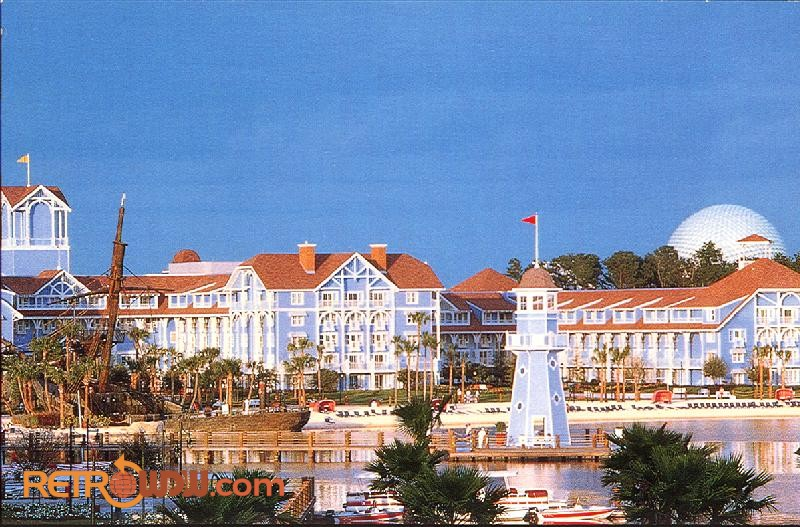 WDW Resorts Postcards RetroWDW