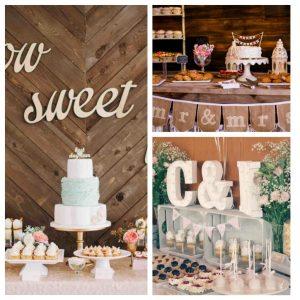 Mesas de dulces para bodas vintage