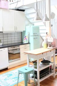 Lámparas para barra de cocina en acero inoxidable