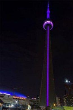 CN Tower Purple for Rett syndrome awareness