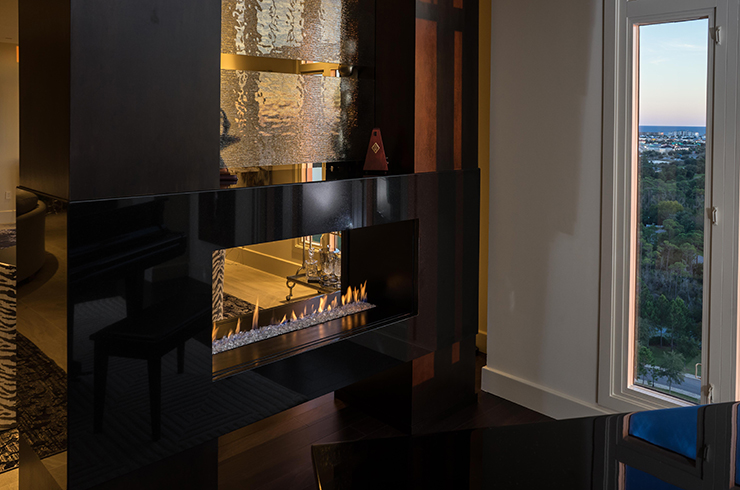 European Homes See Through  Rettinger Fireplace