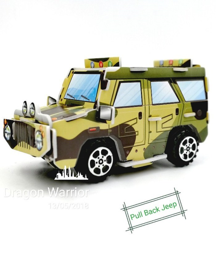 3d Camouflage Bombardier Pull back Gypsy Toy Puzzle