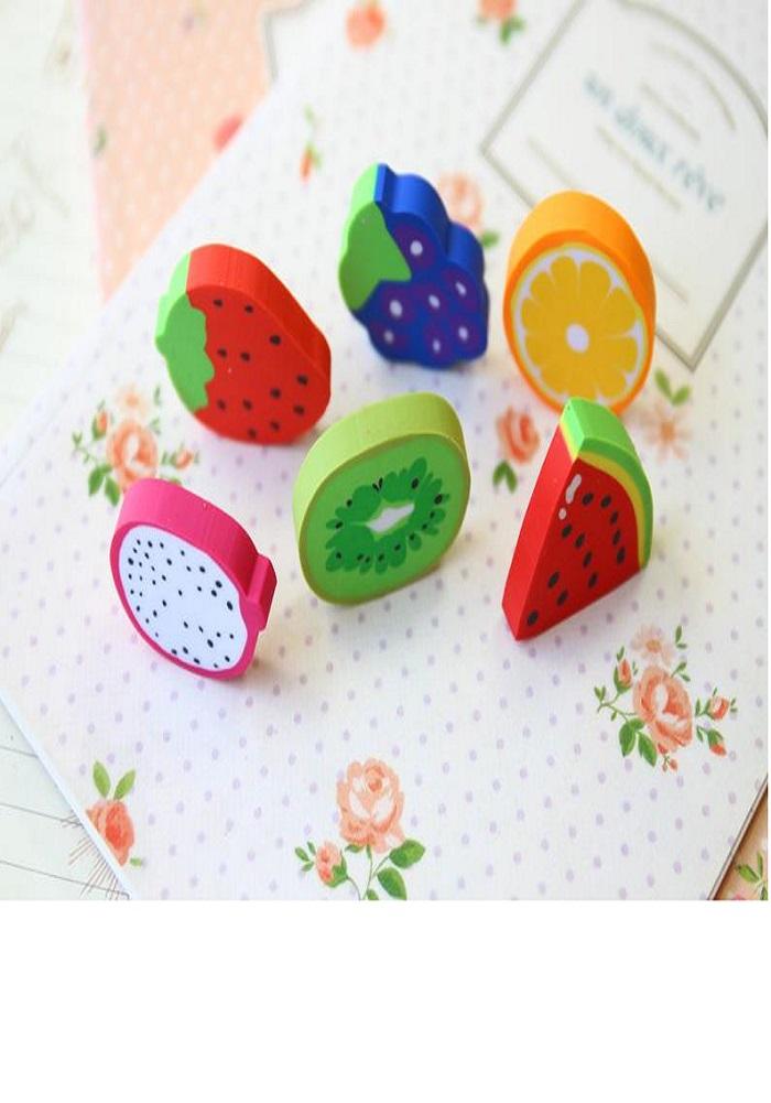 eraser fruits theme return gifts