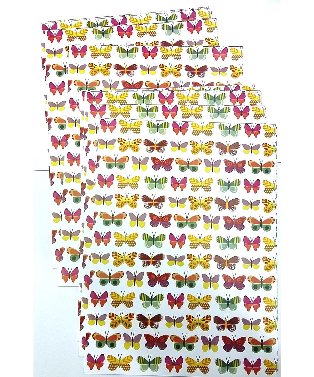 Butterfly Print A4 Galaxy Paper | Pack of 10