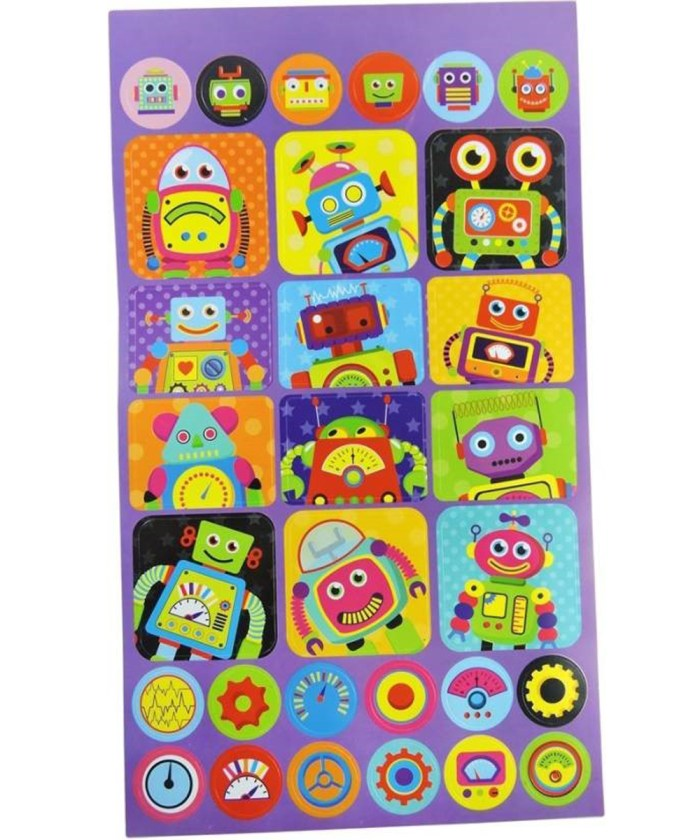 Robot Theme Fancy Stickers Book | 70 pieces