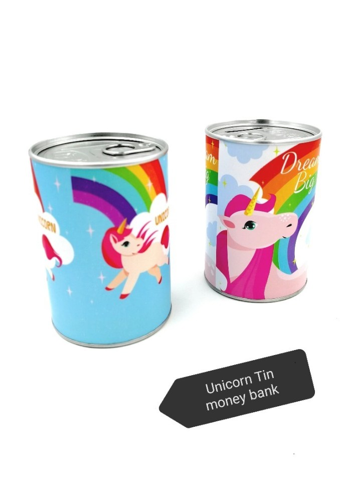 unicorn theme money bank as a birthday return gifts for 5 year old