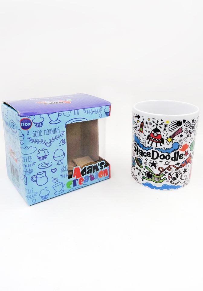 space doodle mug bone china return gifts