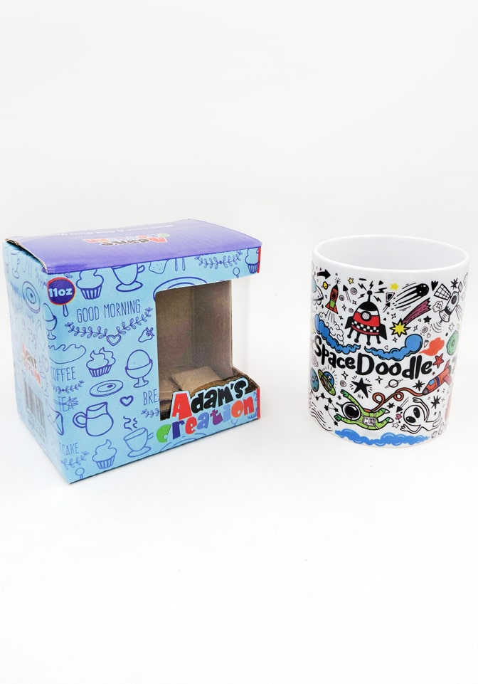 space doodle mug bone china return gifts