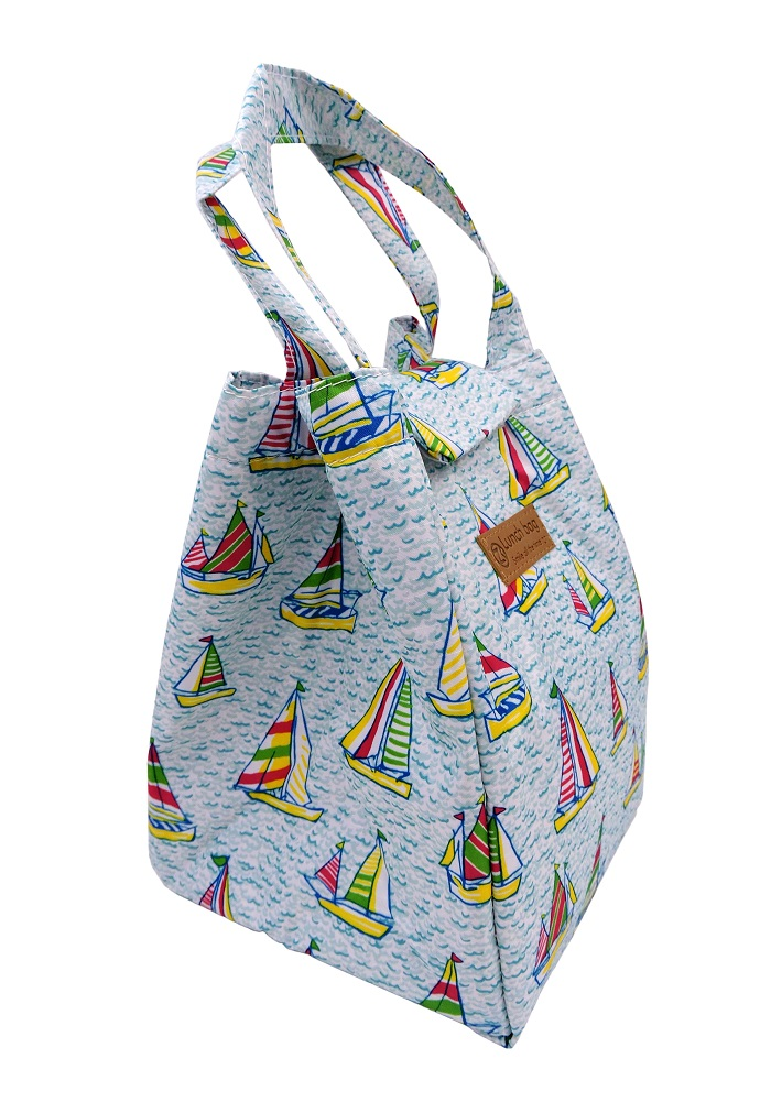 Ship print kids lunch bags for women office school