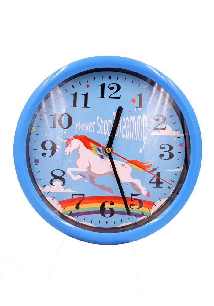 Fancy wall clocks for children bedroom unicorn theme return gifts