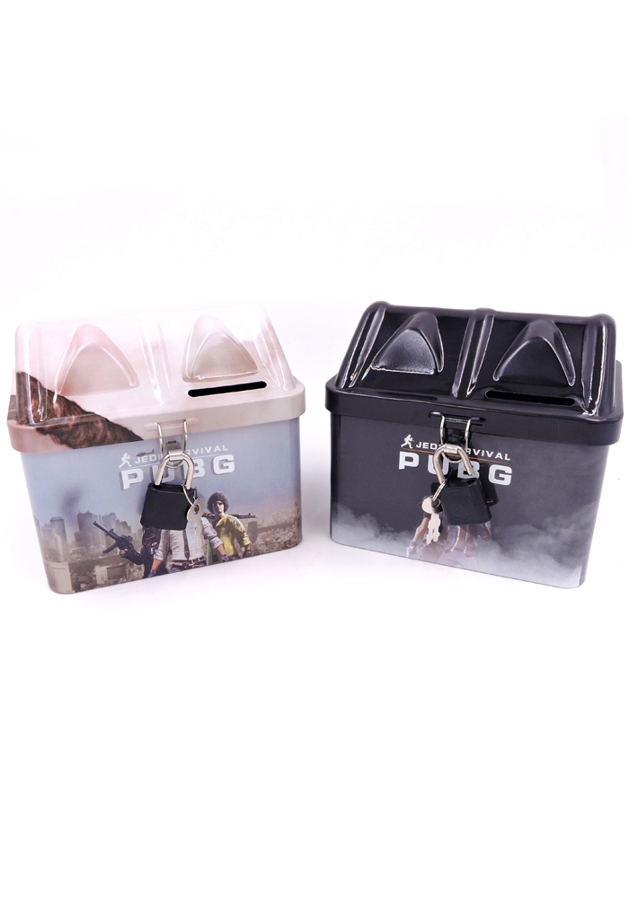 pubg theme return gifts money bank for kids