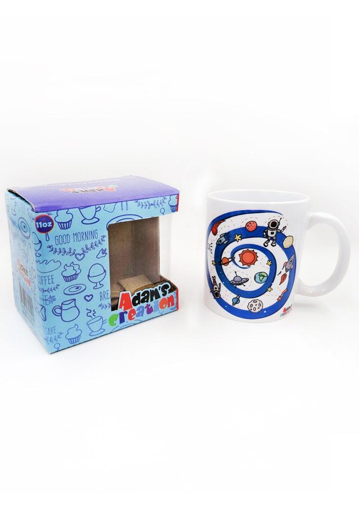 space theme bone china mug