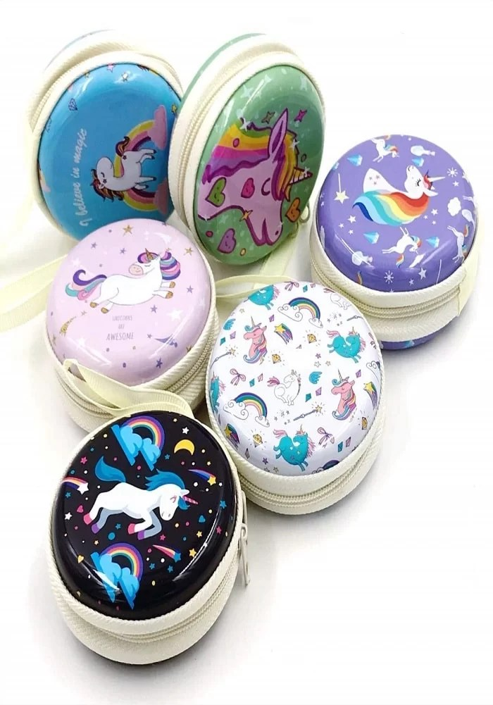 unicorn theme coin wallet metal wallet pouch zipper purse box online india