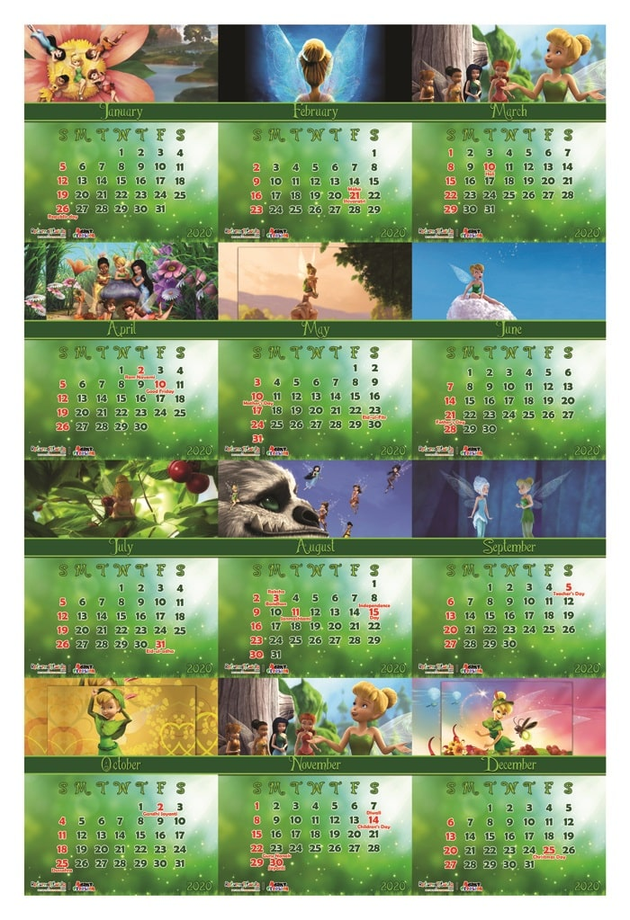 tinker bell theme return gifts calendars customizable online india shopping