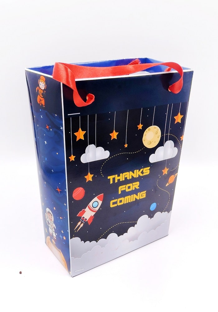 space theme paper bags