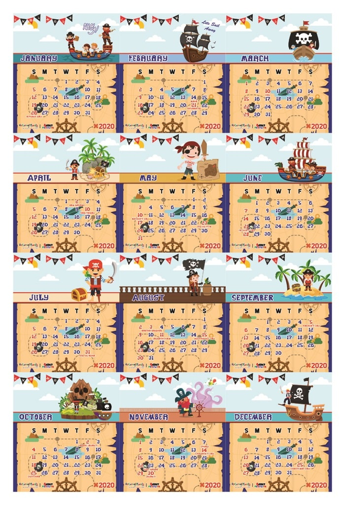 pirates theme return gifts calendars pictures customize-able delivery online india