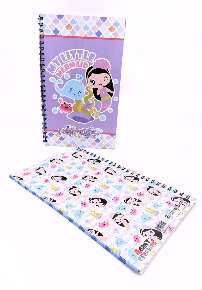 mermaid theme diary- designer diary kids funny underwater