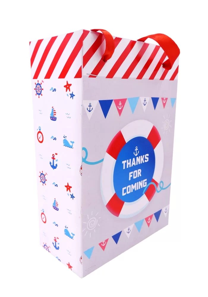 nautical sailor theme paper bag for return gifts